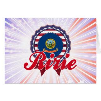 Ririe, identificación felicitación