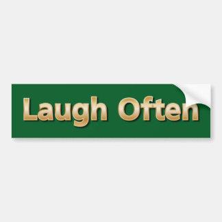 Risa a menudo pegatina para auto