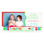 Risa B1 toda la plantilla de la foto del navidad b Tarjeta Con Foto Personalizada