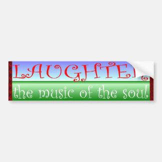 risa etiqueta de parachoque