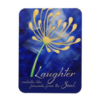Risa con diseño del imán de la flor