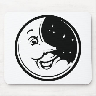 Risa de la luna alfombrillas de raton