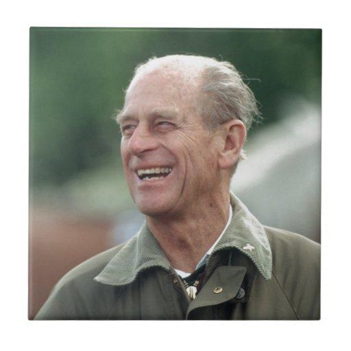 Risa de príncipe Philip de HRH Azulejo Cuadrado Pequeño
