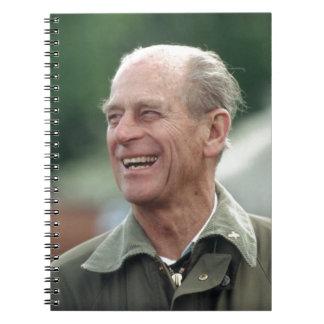 Risa de príncipe Philip de HRH Libros De Apuntes Con Espiral