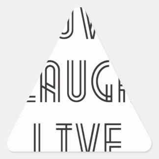 Risa del amor viva pegatina trianguladas personalizadas