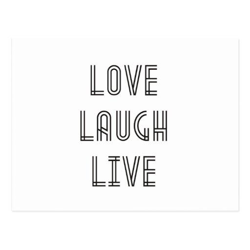 Risa del amor viva postales