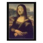 Risa divertida de Mona Lisa de la cara Tarjeta Postal