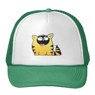 Risa divertida del gato gorra