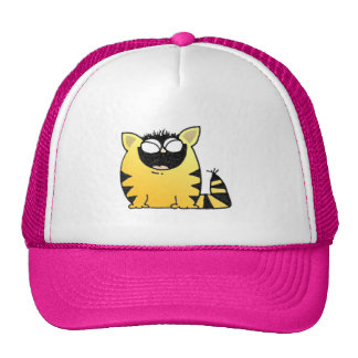 Risa divertida del gato gorras de camionero