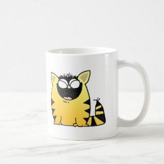 Risa divertida del gato tazas