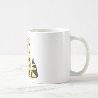 Risa divertida del gato tazas de café
