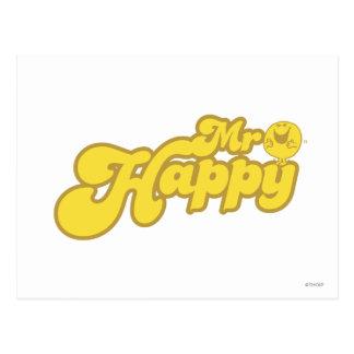 Risa feliz de Sr. Happy el | Postal