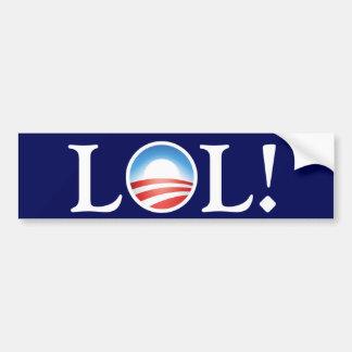 Risa hacia fuera ruidosamente en Obama Etiqueta De Parachoque