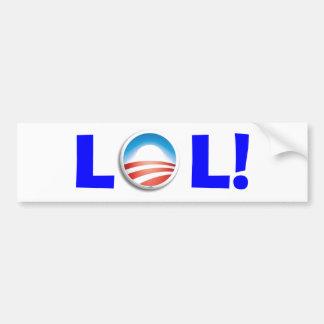Risa hacia fuera ruidosamente en Obama Pegatina De Parachoque