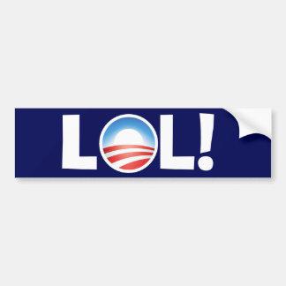 Risa hacia fuera ruidosamente en Obama Pegatina Para Auto