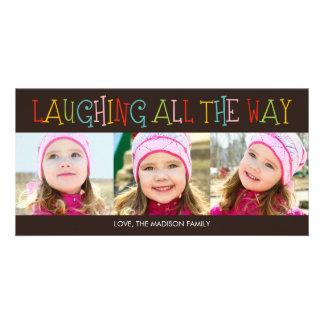 Risa hasta el final de la tarjeta de la foto del d tarjetas fotograficas personalizadas
