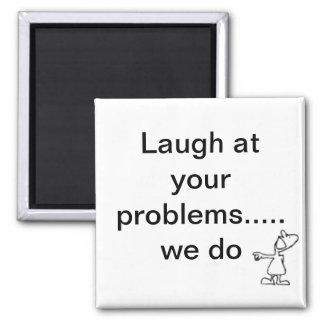 risa imán cuadrado