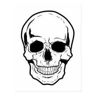 Risa negra del cráneo tarjetas postales