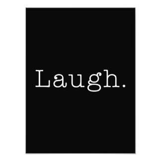Risa. Plantilla blanco y negro de la cita de la ri Arte Fotografico
