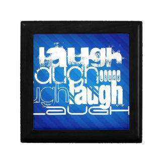 Risa; Rayas azules reales Caja De Regalo