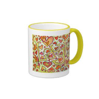risa taza de dos colores