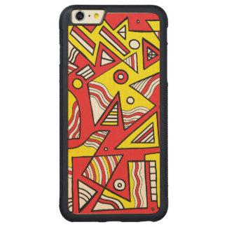 Risa vertical romántica bien informada funda de arce bumper carved® para iPhone 6 plus