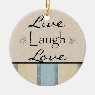 Risa viva de la tela escocesa ornamento para reyes magos