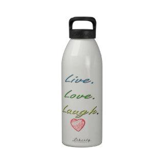 Risa viva del amor botellas de beber
