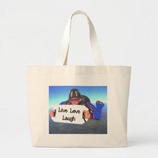 Risa viva del amor bolsas lienzo