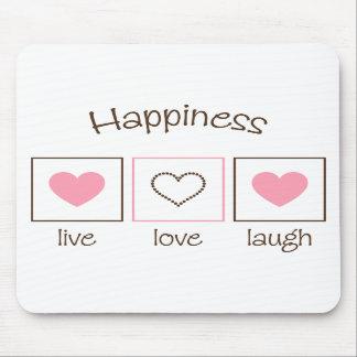 Risa viva del amor de la felicidad alfombrillas de ratones