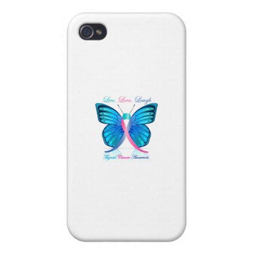 Risa viva del amor de la mariposa de la tiroides iPhone 4 cobertura