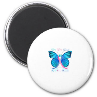 Risa viva del amor de la mariposa de la tiroides imán de frigorifico