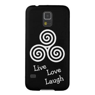 risa viva del amor del espiral triple blanco funda para galaxy s5