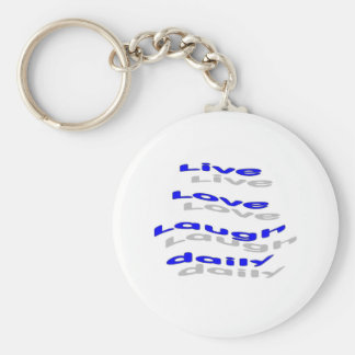 Risa viva del amor diaria - azul llavero personalizado