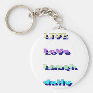 Risa viva del amor diaria en Multi-colores Llavero