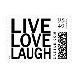 Risa viva del amor estampillas
