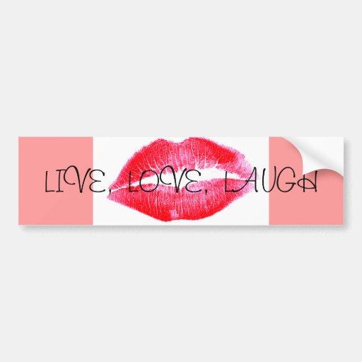 risa viva del amor etiqueta de parachoque