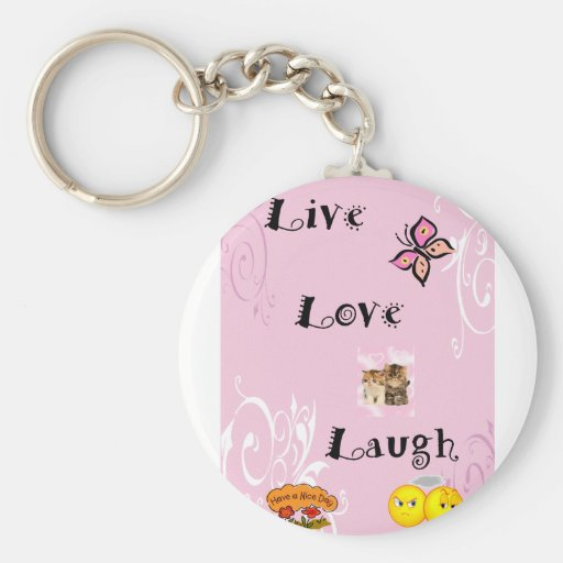 Risa viva del amor llavero redondo tipo pin