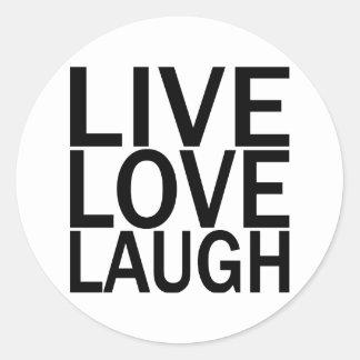 Risa viva del amor pegatina redonda