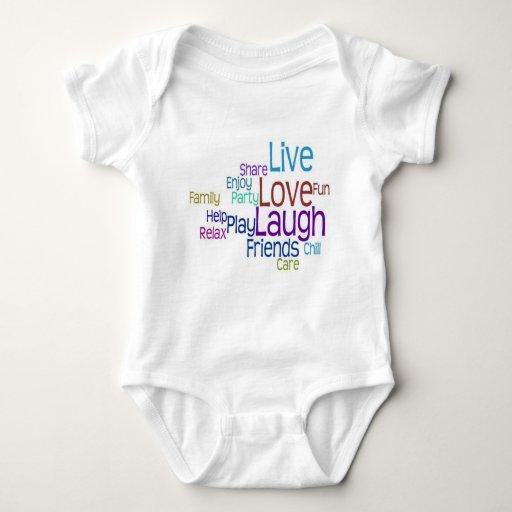 Risa viva del amor remeras