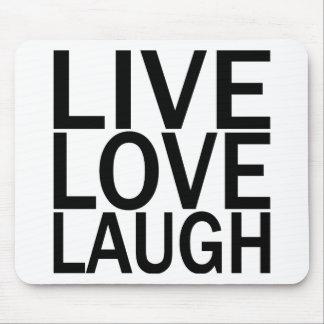 Risa viva del amor alfombrilla de raton