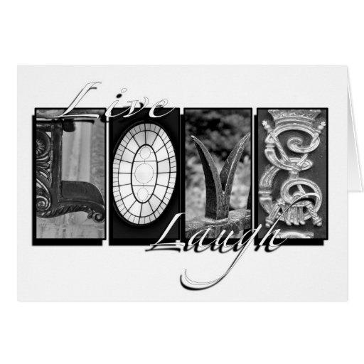 Risa viva del amor tarjeta pequeña