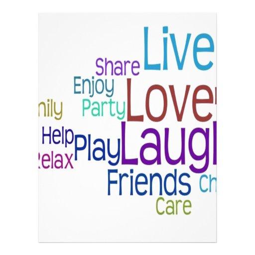 Risa viva del amor tarjeta publicitaria