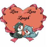 Risa viva Kittys del amor Escultura Fotográfica