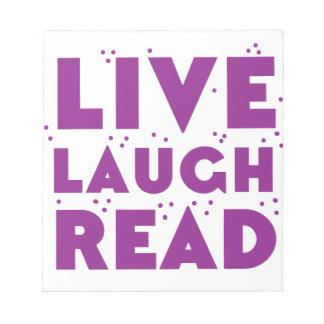 risa viva leída bloc de notas