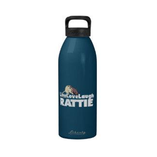 Risa viva Rattie del amor Botella De Agua Reutilizable