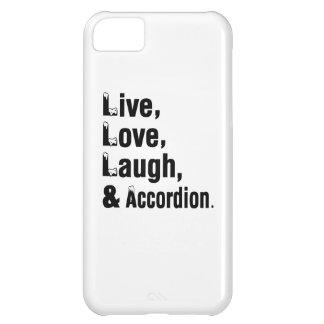 Risa viva y acordeón del amor funda para iPhone 5C