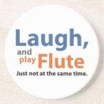 Risa y flauta del juego posavasos para bebidas