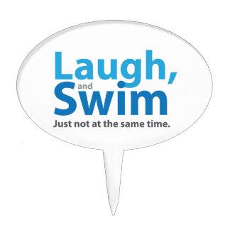 Risa y nadada… pero no al mismo tiempo decoración para tarta