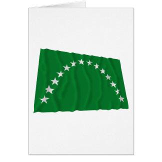 Risaralda Waving Flag Card